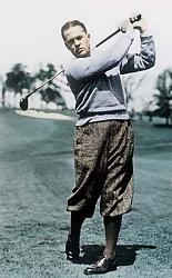 bobby jones swinging the golf club