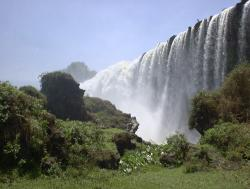 ethiopia blue nile waterfall