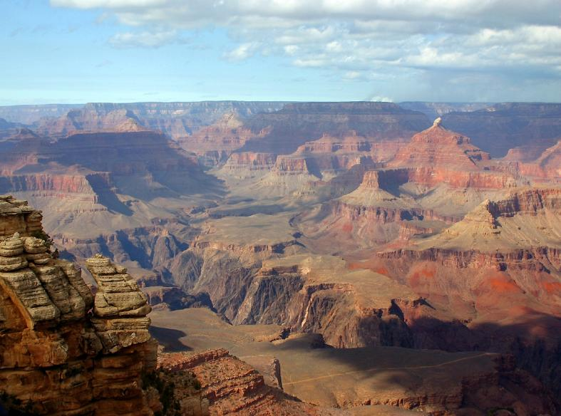 huge landscape of the grand canyon, looking west