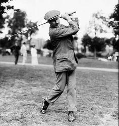harry vardon in action