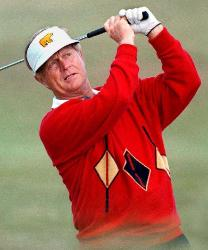 jack nicklaus in action