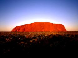 ayers rock at sunrise