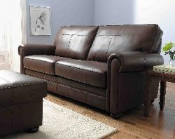 stratford sofa bed in classic brown leather