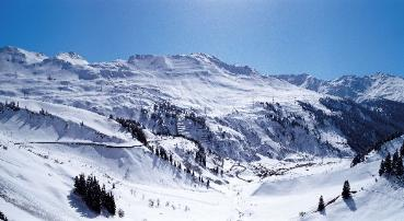 panorama of stuben ski resort