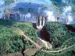 victoria falls photographed from the sky